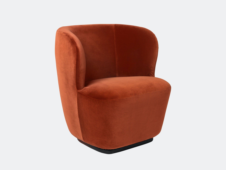 Gubi Stay Lounge Chair Velvet 641 Space Copenhagen
