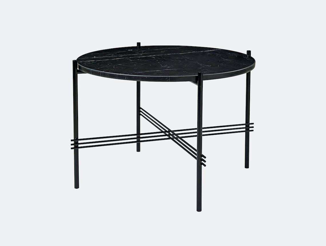 Gubi Ts Coffee Table 55 Black Black Marble Gam Fratesi