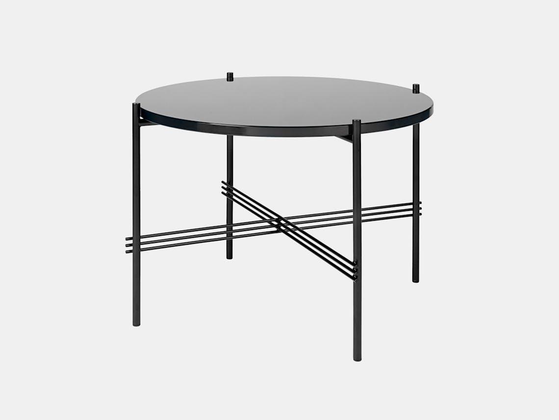 Gubi Ts Coffee Table 55 Black Graphite Black Glass Gam Fratesi