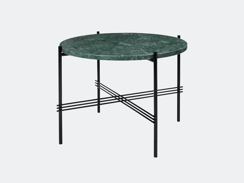 Gubi Ts Coffee Table 55 Black Green Marble Gam Fratesi