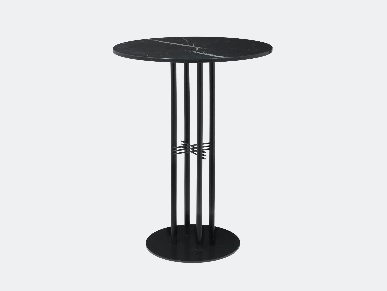 Gubi Ts Column Bar Table Black Marble Gam Fratesi