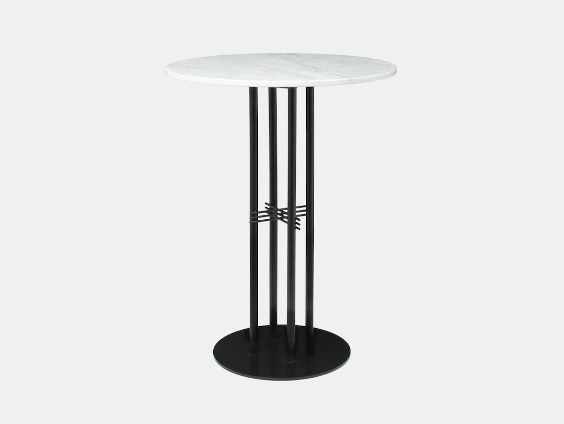Gubi Ts Column Bar Table White Marble Gam Fratesi