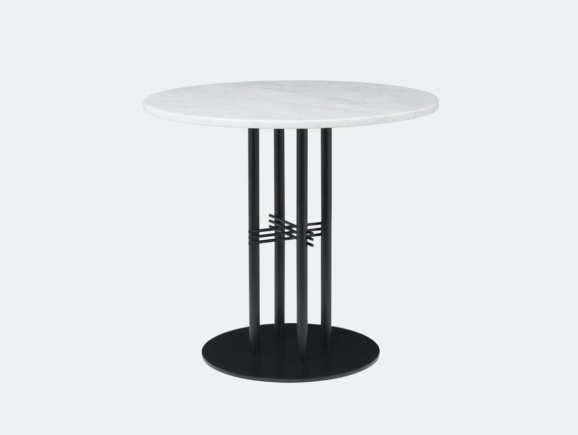 Gubi Ts Column Dining Table White Marble Gam Fratesi