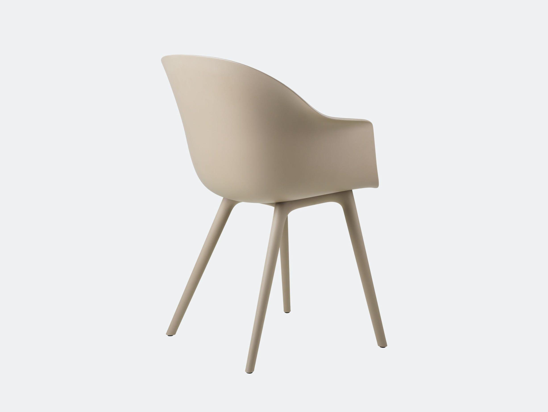 Gubi bat outdoor chair new beige back
