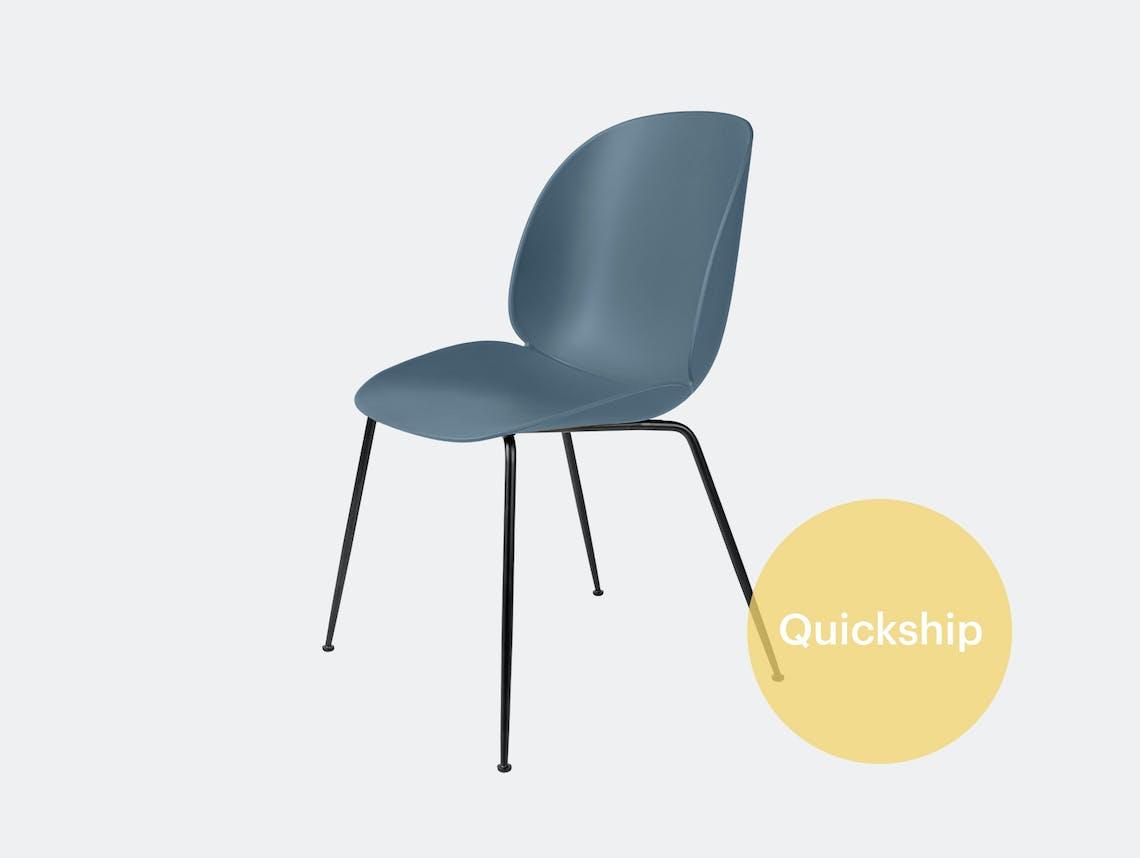 Gubi beetle dining chair qs