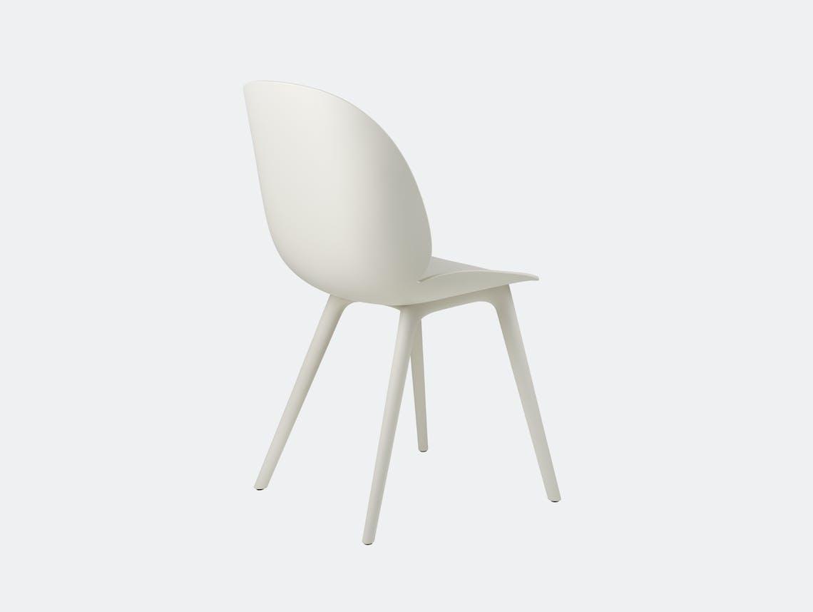 Gubi beetle outdoor chair alabaster white back