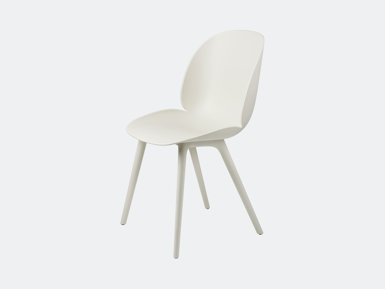 Gubi beetle outdoor chair alabaster white