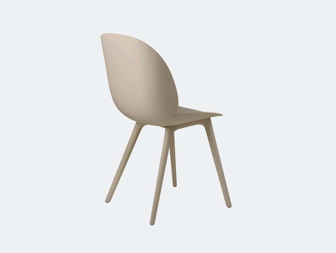 Gubi beetle outdoor chair new beige back