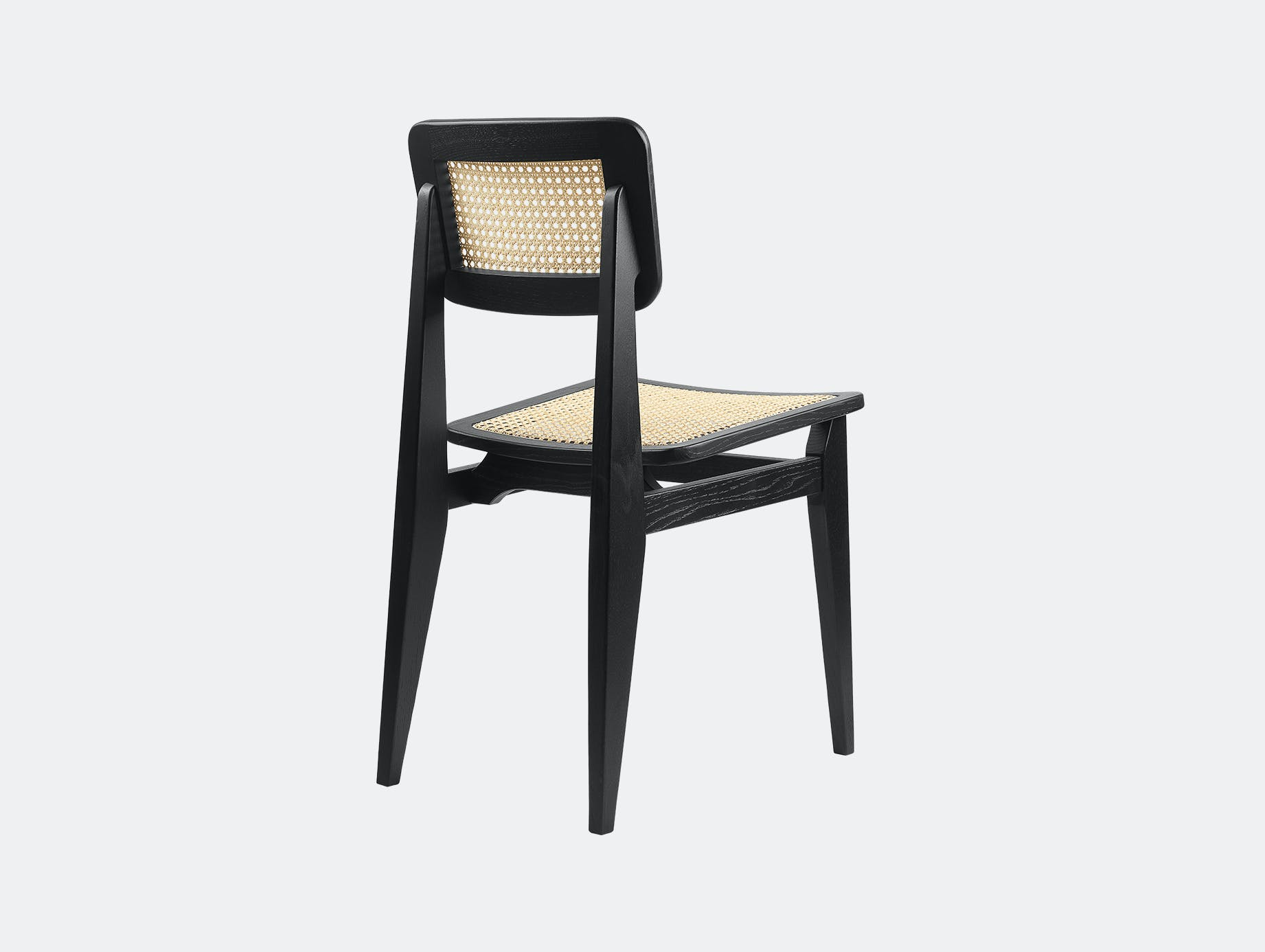 Gubi c chair dining all cane blk oak 2