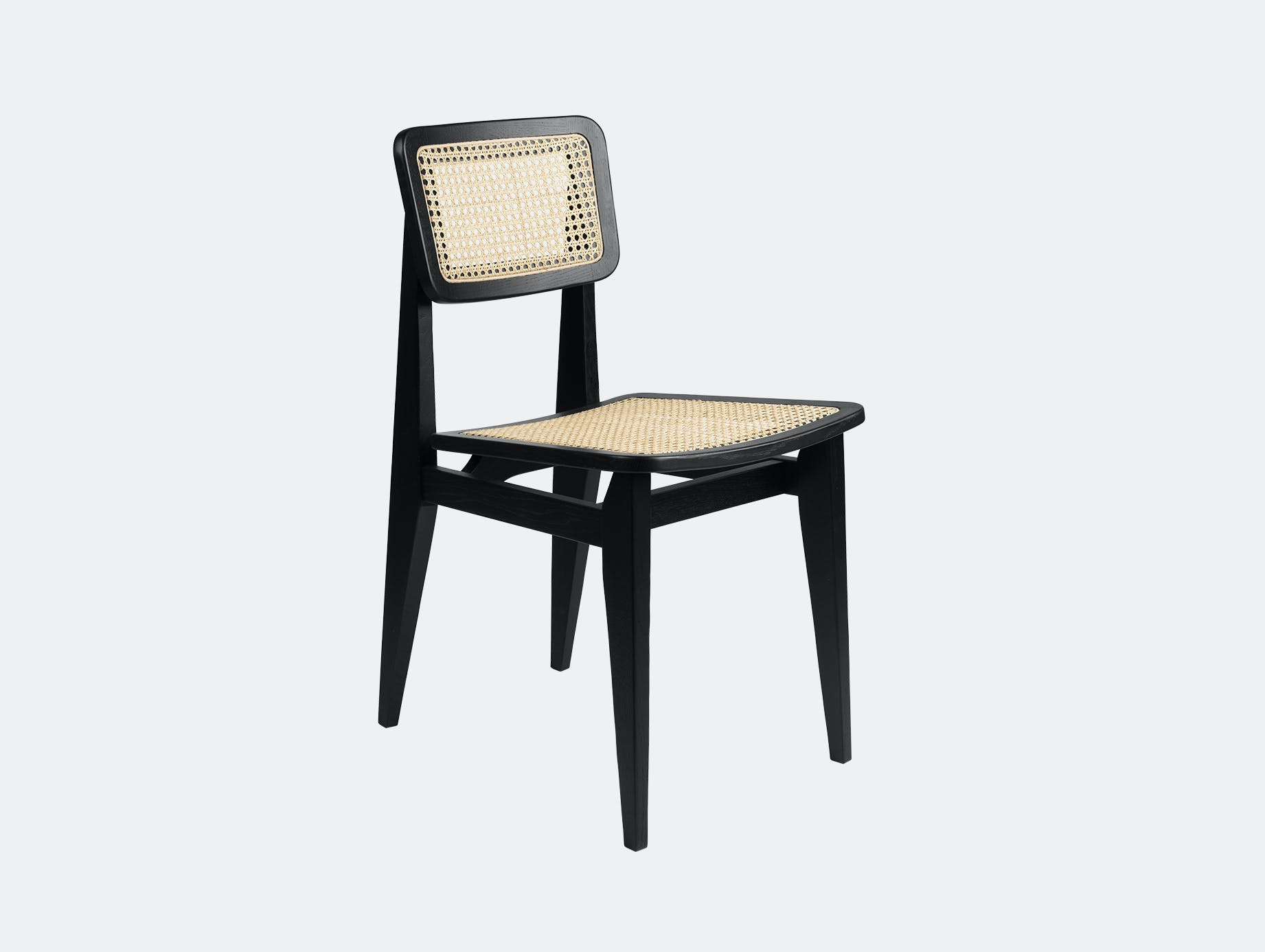 Gubi c chair dining all cane blk oak