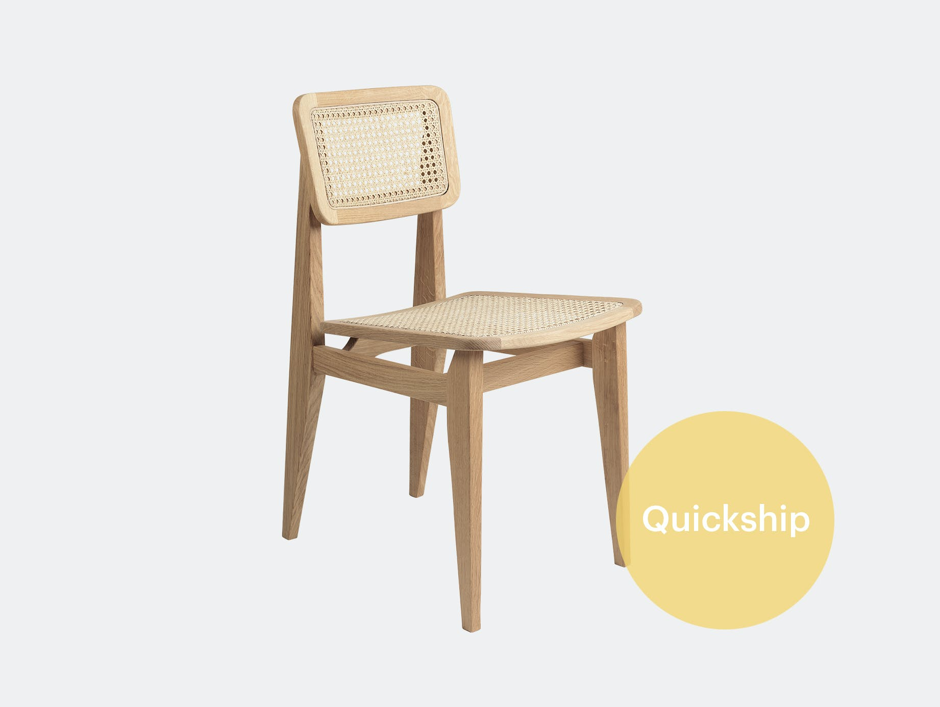 Gubi c chair dining all cane oil oak qs