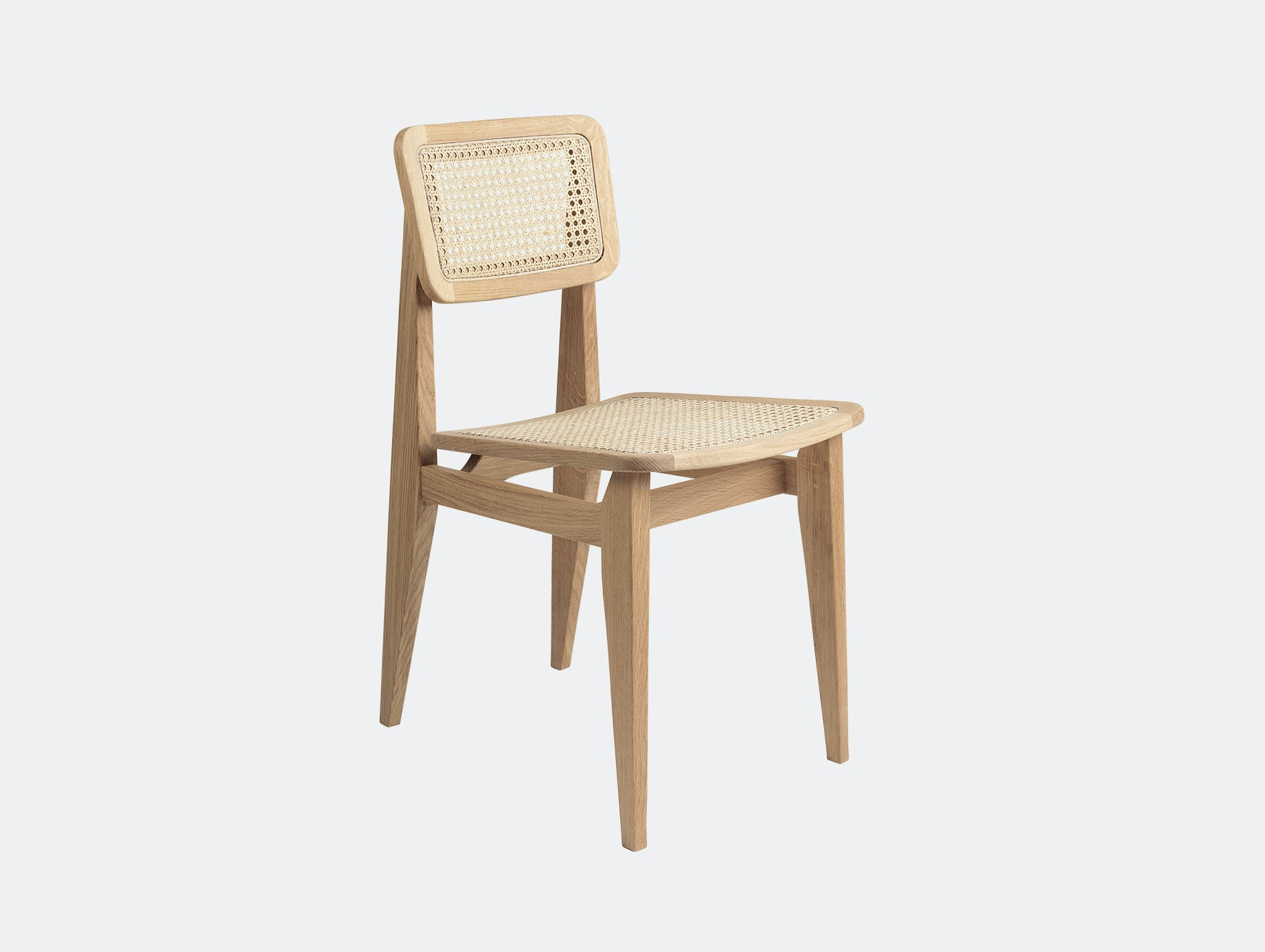 Gubi c chair dining all cane oil oak