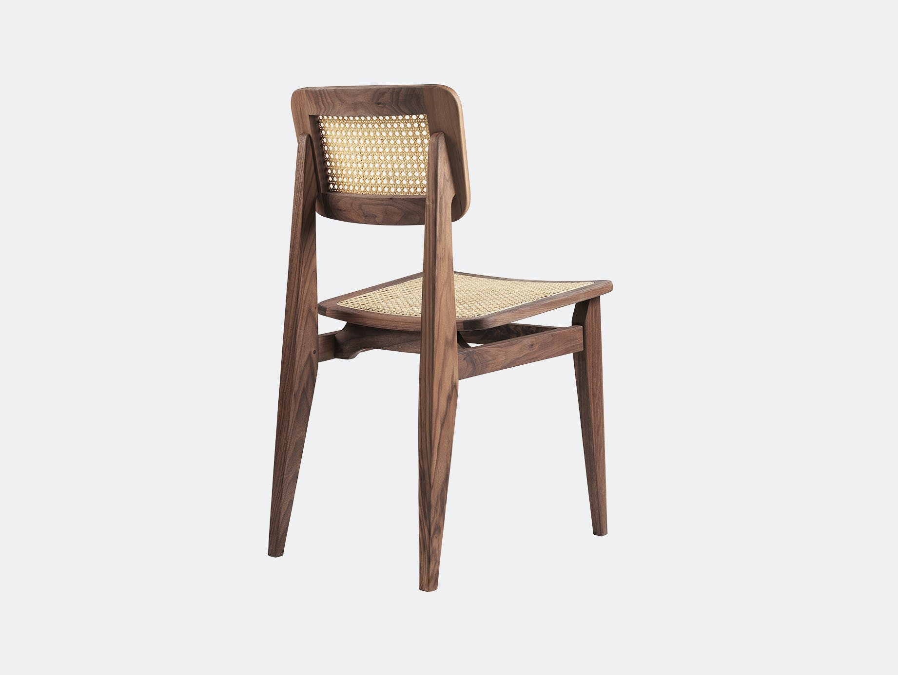 Gubi c dining chair walnut cane