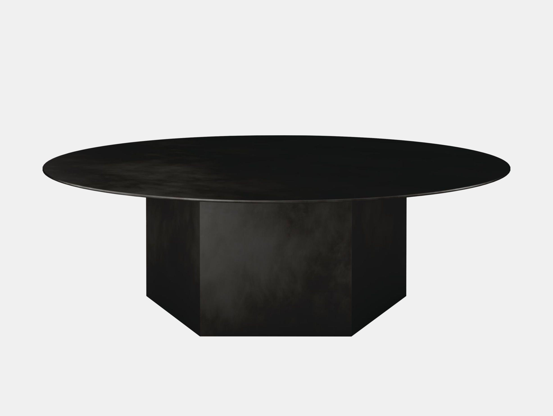 Gubi epic steel coffee table black 110