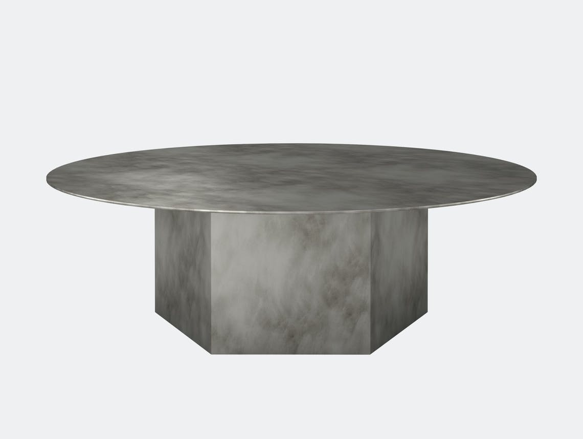 Gubi epic steel coffee table grey 110