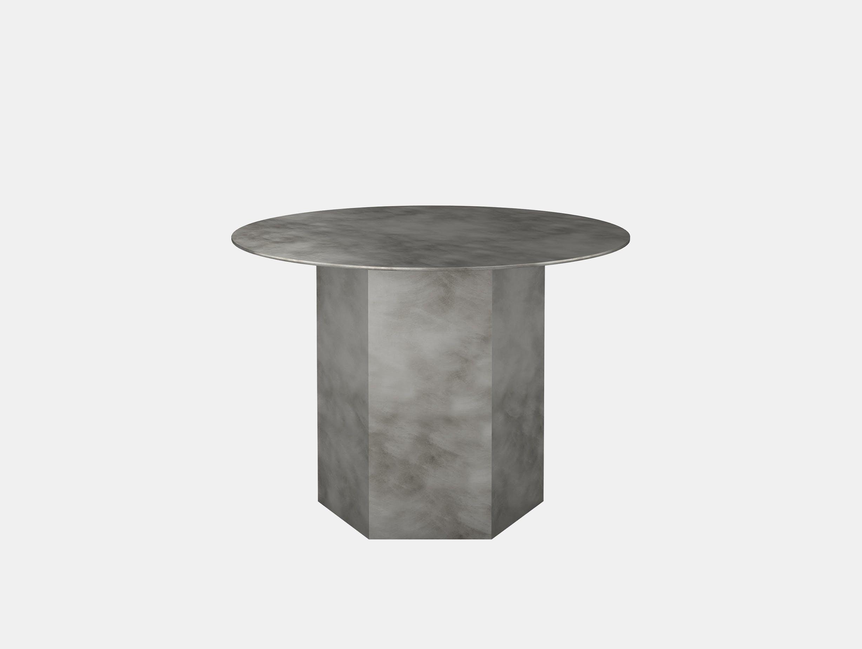 Gubi epic steel coffee table grey 60