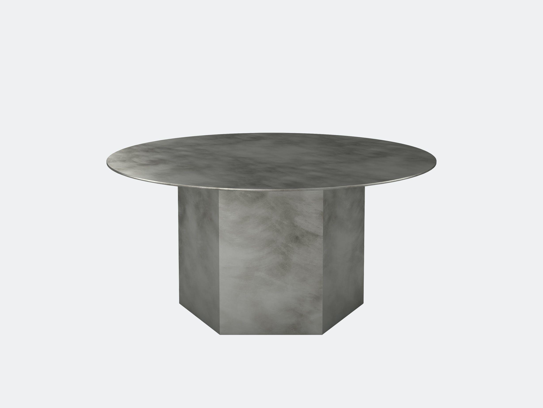 Gubi epic steel coffee table grey 80