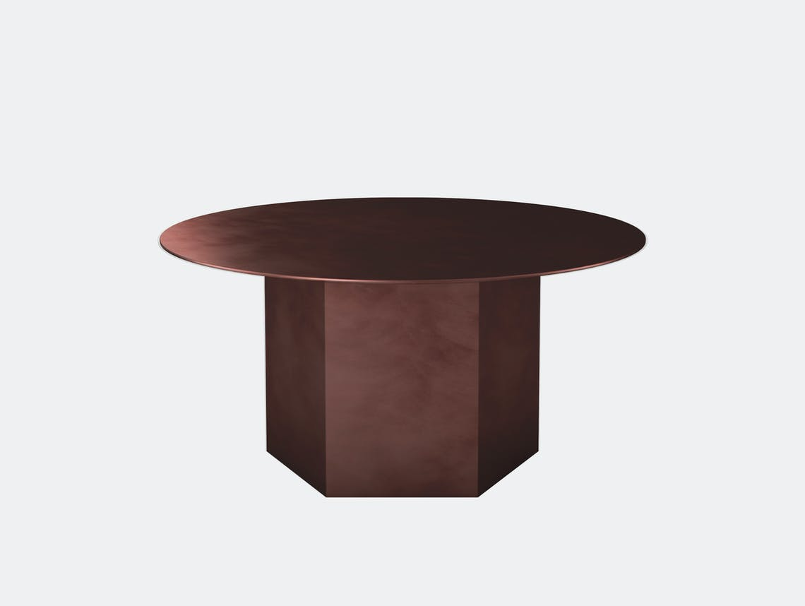 Gubi epic steel coffee table red 80