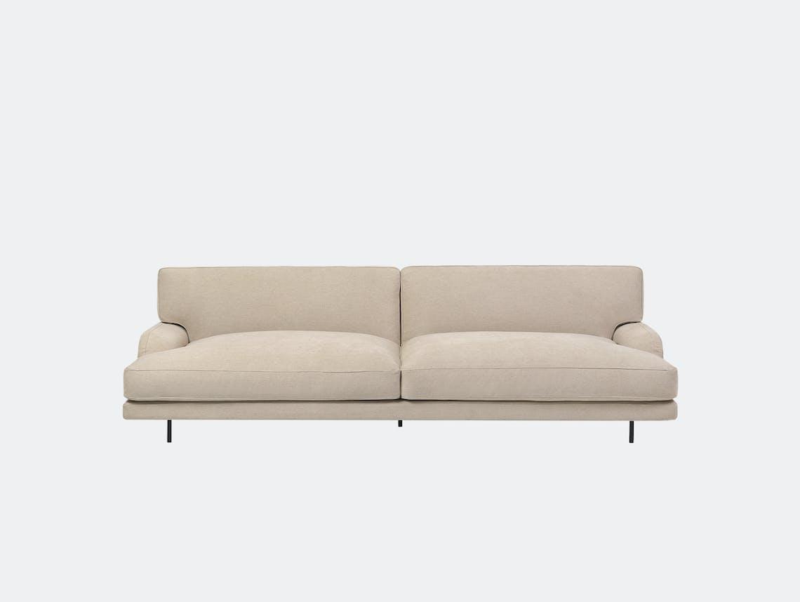Gubi flaneur 2 5 seat sofa jab dolcelino 1202 72 blk