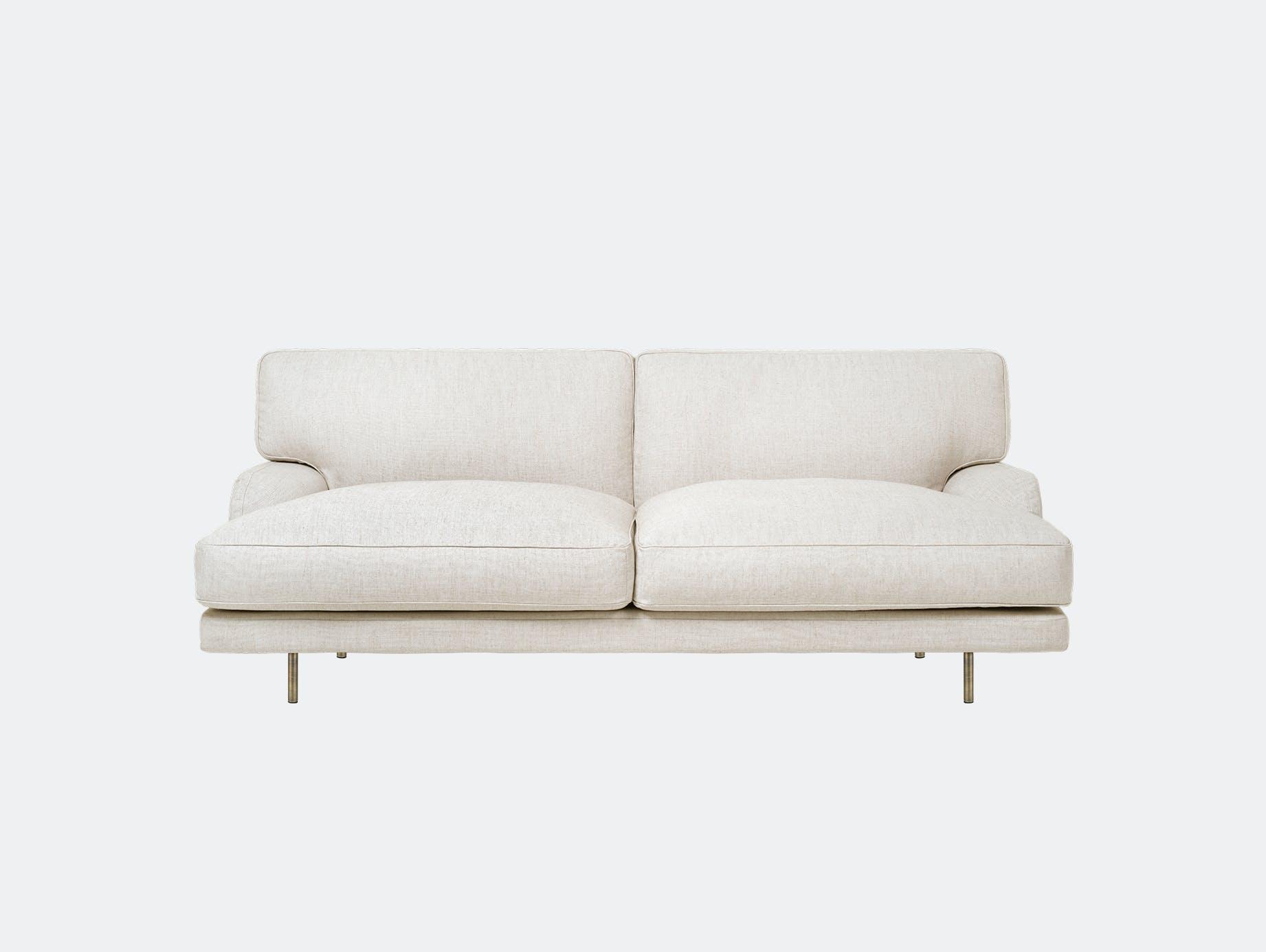 Gubi flaneur 2 seat sofa chambray 24 brs