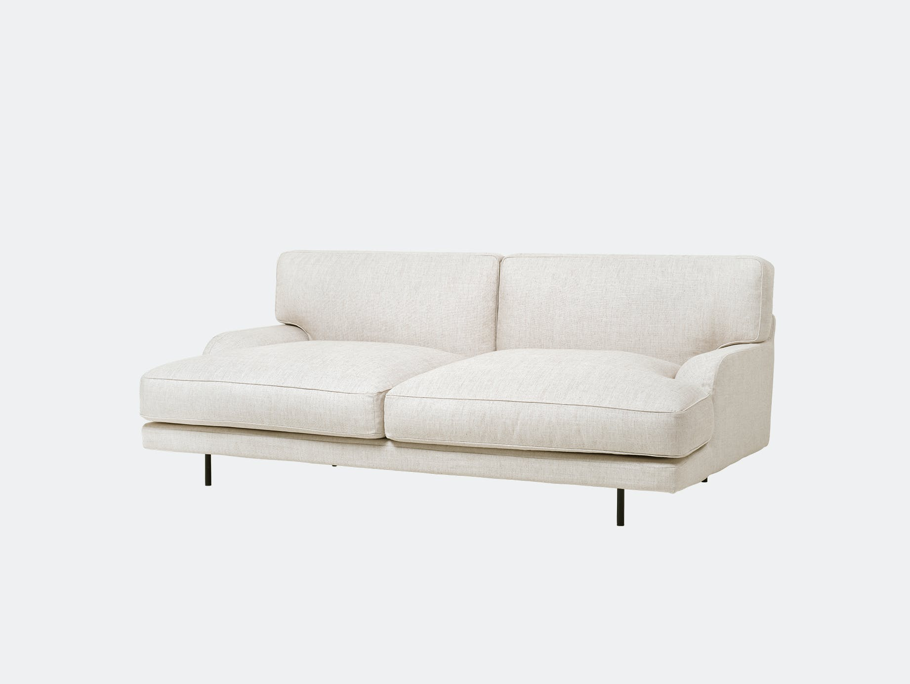 Gubi flaneur sofa 2 seat chambray24 blk d