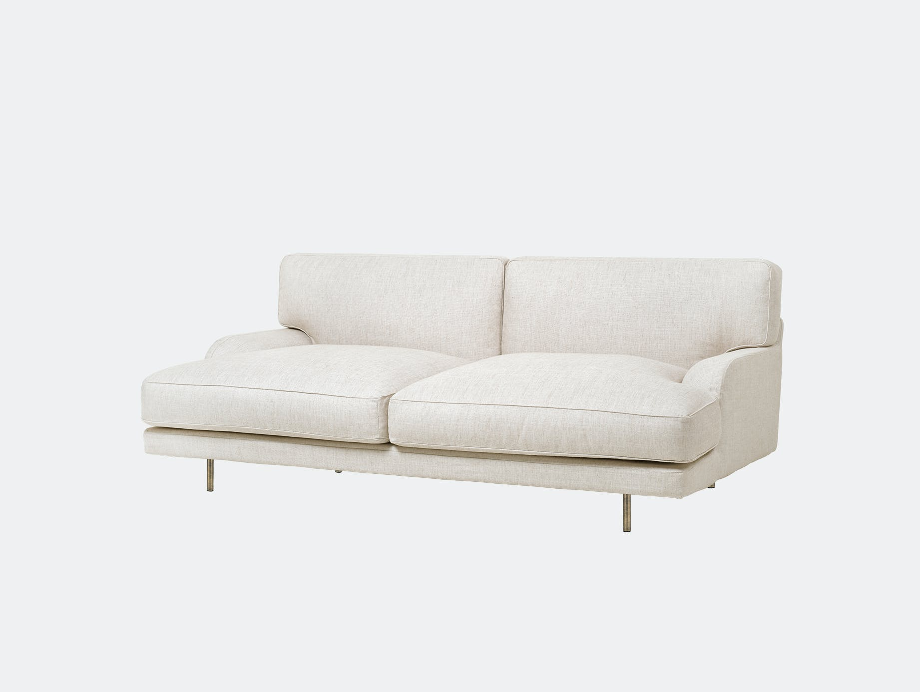 Gubi flaneur sofa 2 seat chambray24 brs d