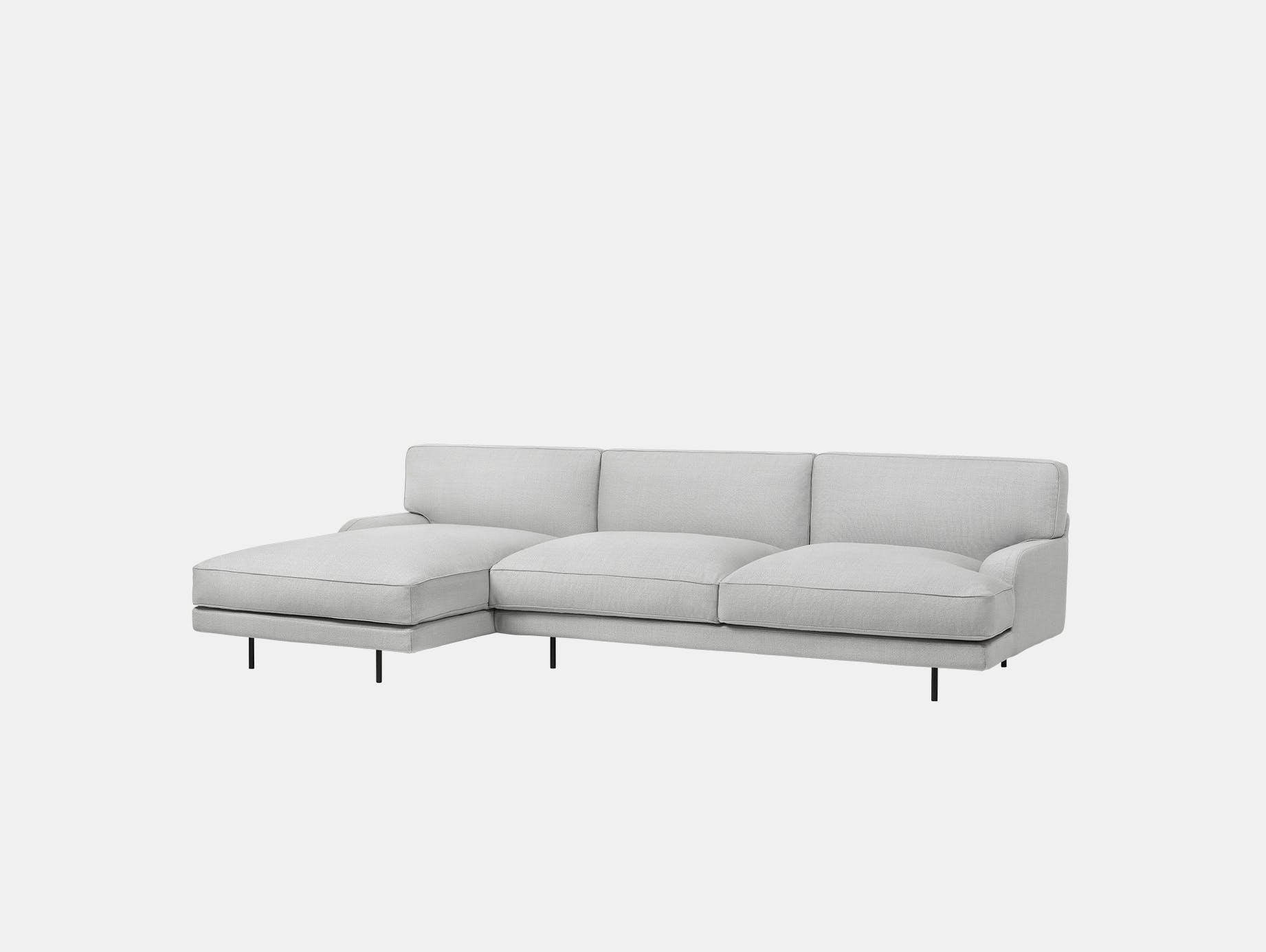 Gubi flaneur sofa w chaise famehybrid 1101 blk d