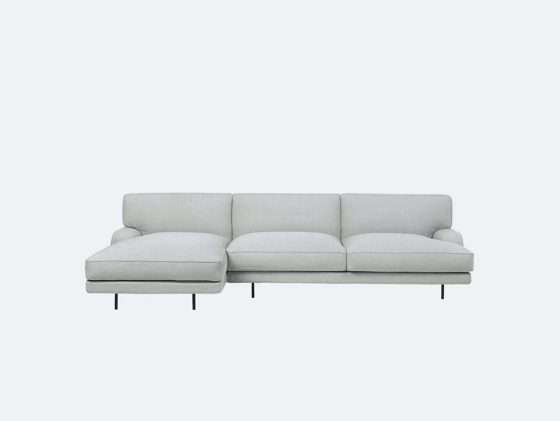 Gubi flaneur sofa w chaise famehybrid 1101 blk