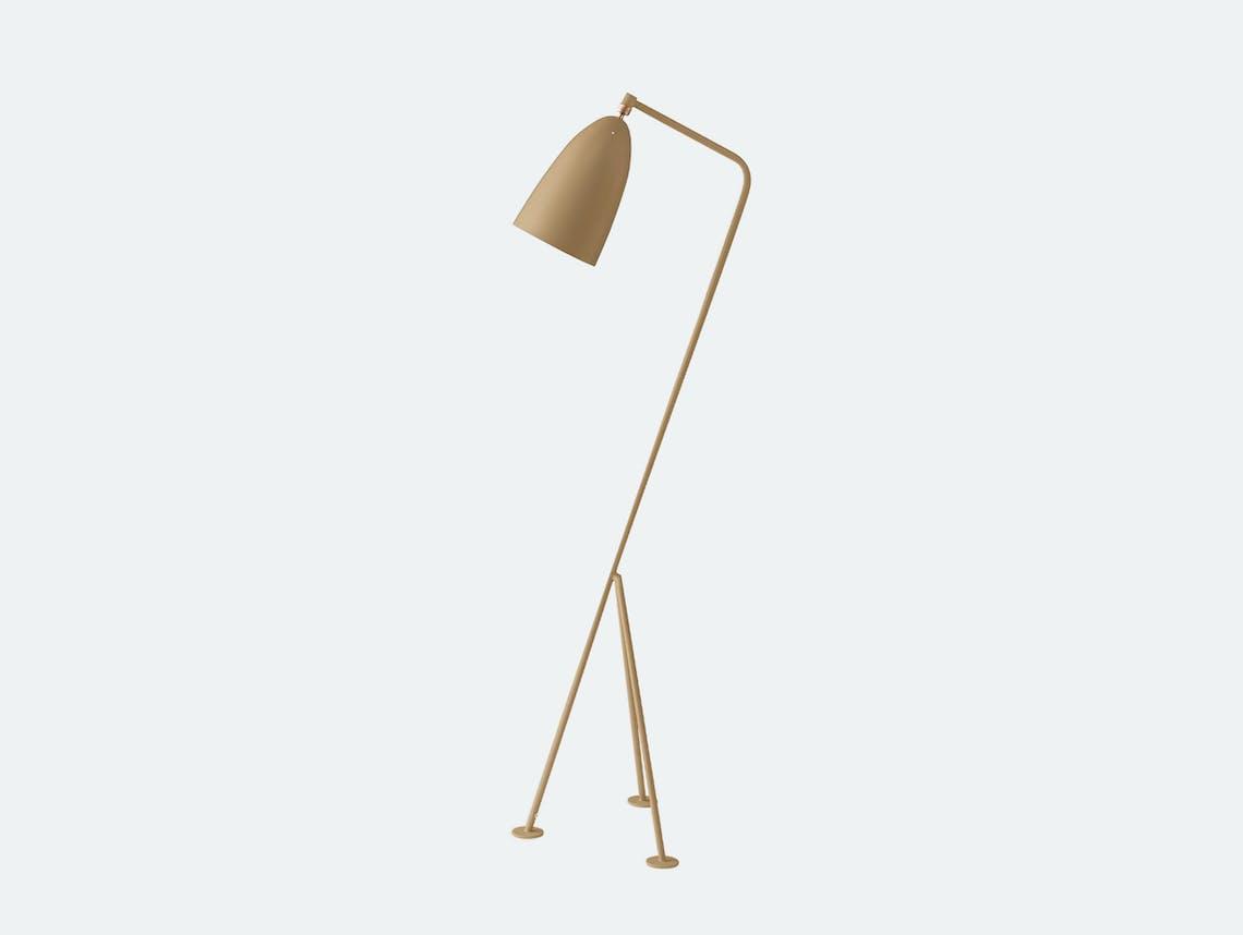 Gubi grossman grashoppa floor lamp olive brown