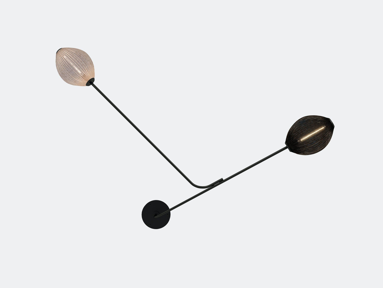 Gubi satellite wall lamp black white