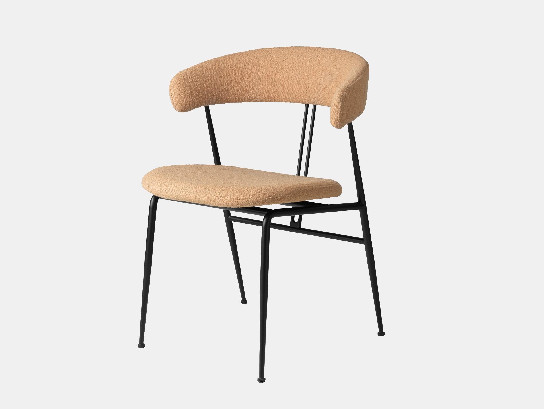 Gubi violin chair fully upholstered backhausen aurin