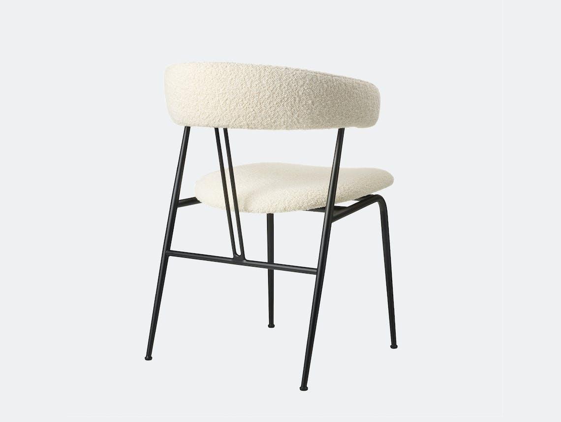 Gubi violin chair fully upholstered karakorum 001 back