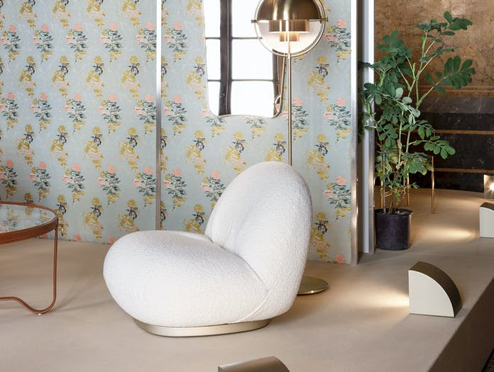 Gubi Adnet Coffee Table Pacha Lounge Chair