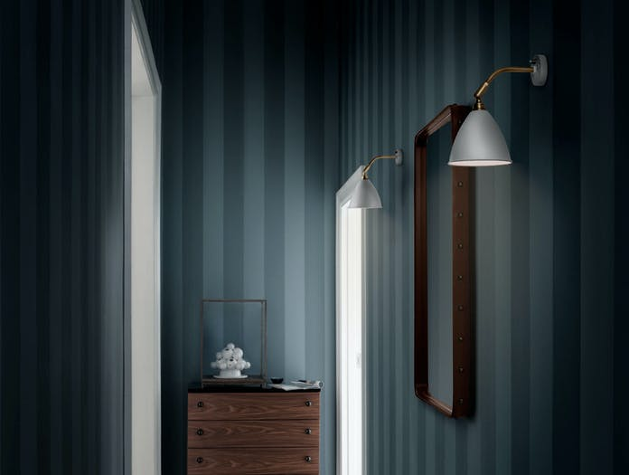 Gubi Bl7 Wall Lamp Brass White