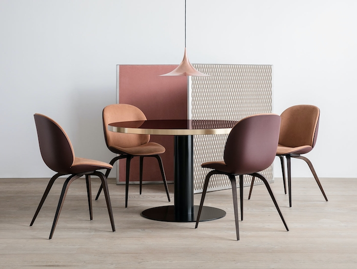 Gubi Beetle Chairs Front Upholstered Gam Fratesi