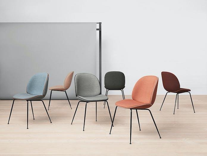 Gubi Beetle Chairs Fully Upholstered Gam Fratesi