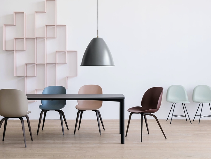 Gubi Beetle Chairs Unupholstered Gam Fratesi