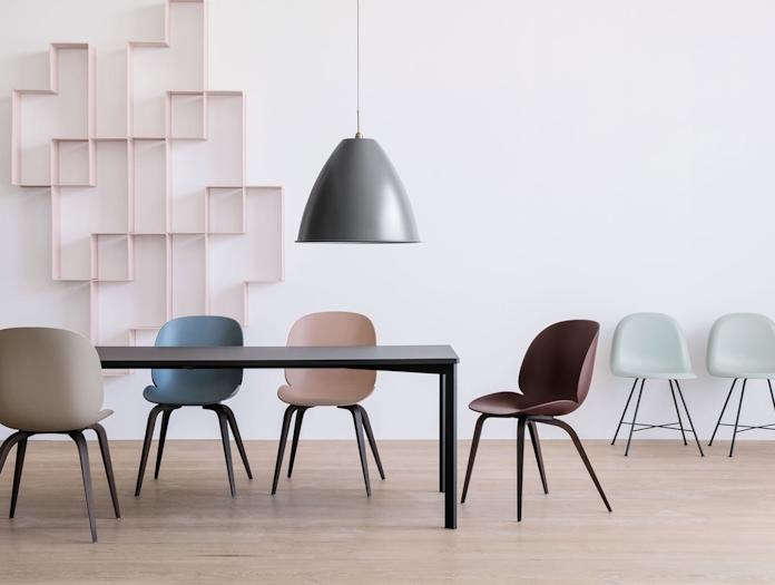 Gubi Beetle Chairs Wood Legs Gam Fratesi