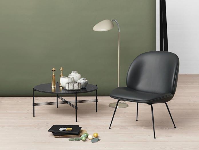 Gubi Beetle Lounge Chair Ts Table Cobra Floor Lamp Warm Grey