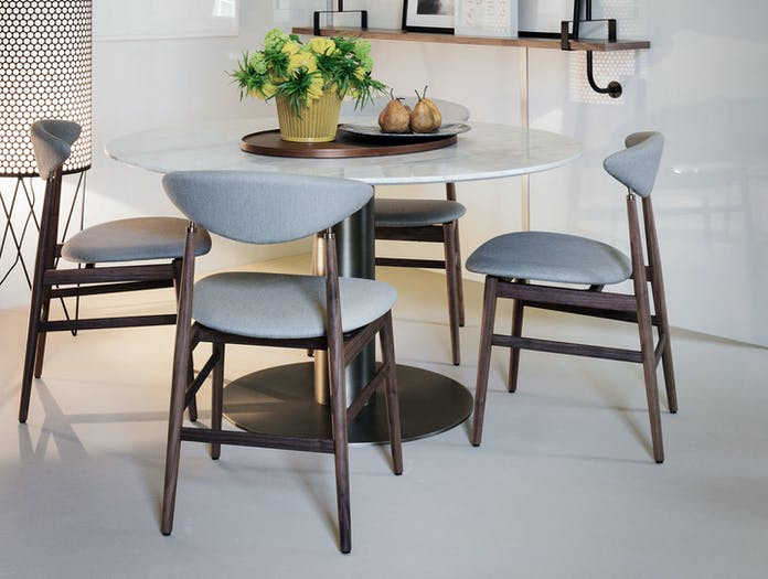 Gubi Gent Dining Chairs Walnut Gam Fratesi