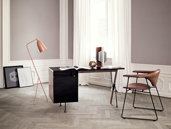 Gubi Grossman Desk Grashoppa Floor Lamp Vintage Red