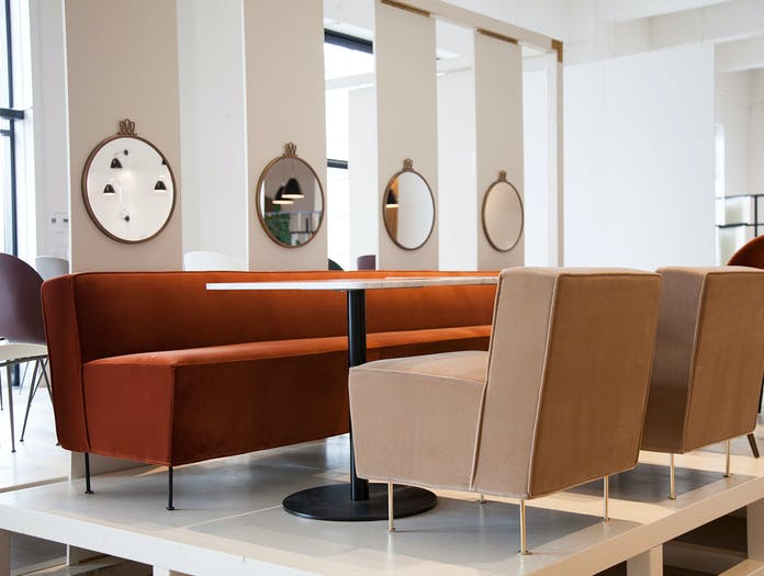 Gubi Modern Line Dining Height Lounge Chair And Sofa Greta Grossman