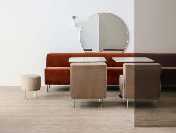 Gubi Modern Line Dining Height Lounge Chair Wall Bestlite
