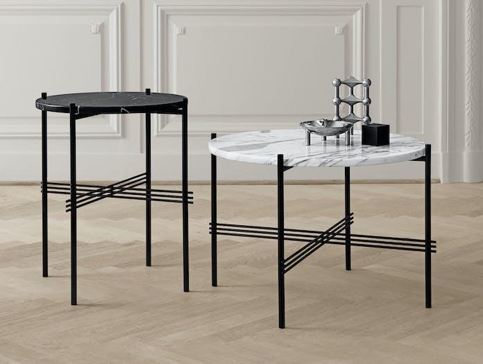 Gubi Ts Lounge Table 40 Black 55 White