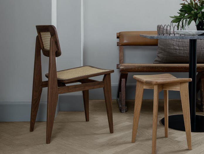 Gubi c dining chair trefle stool