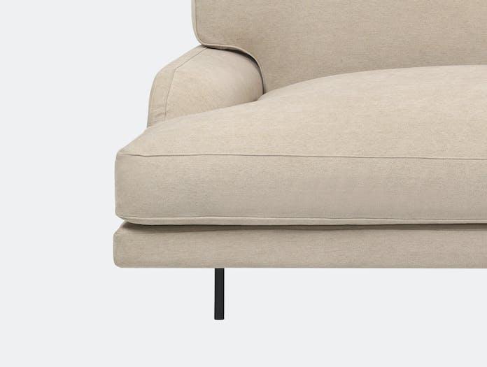 Gubi flaneur 2 5 seat sofa jab dolcelino 1202 72 blk c