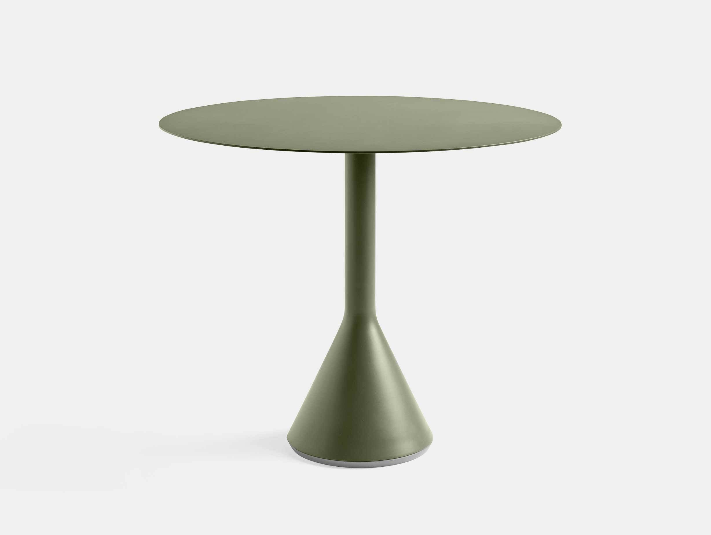 HAY palissade cone table round 90 olive