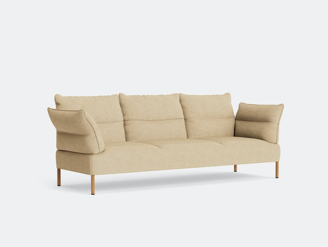 HAY pandarine three seater sofa reclining canvas 414 oak