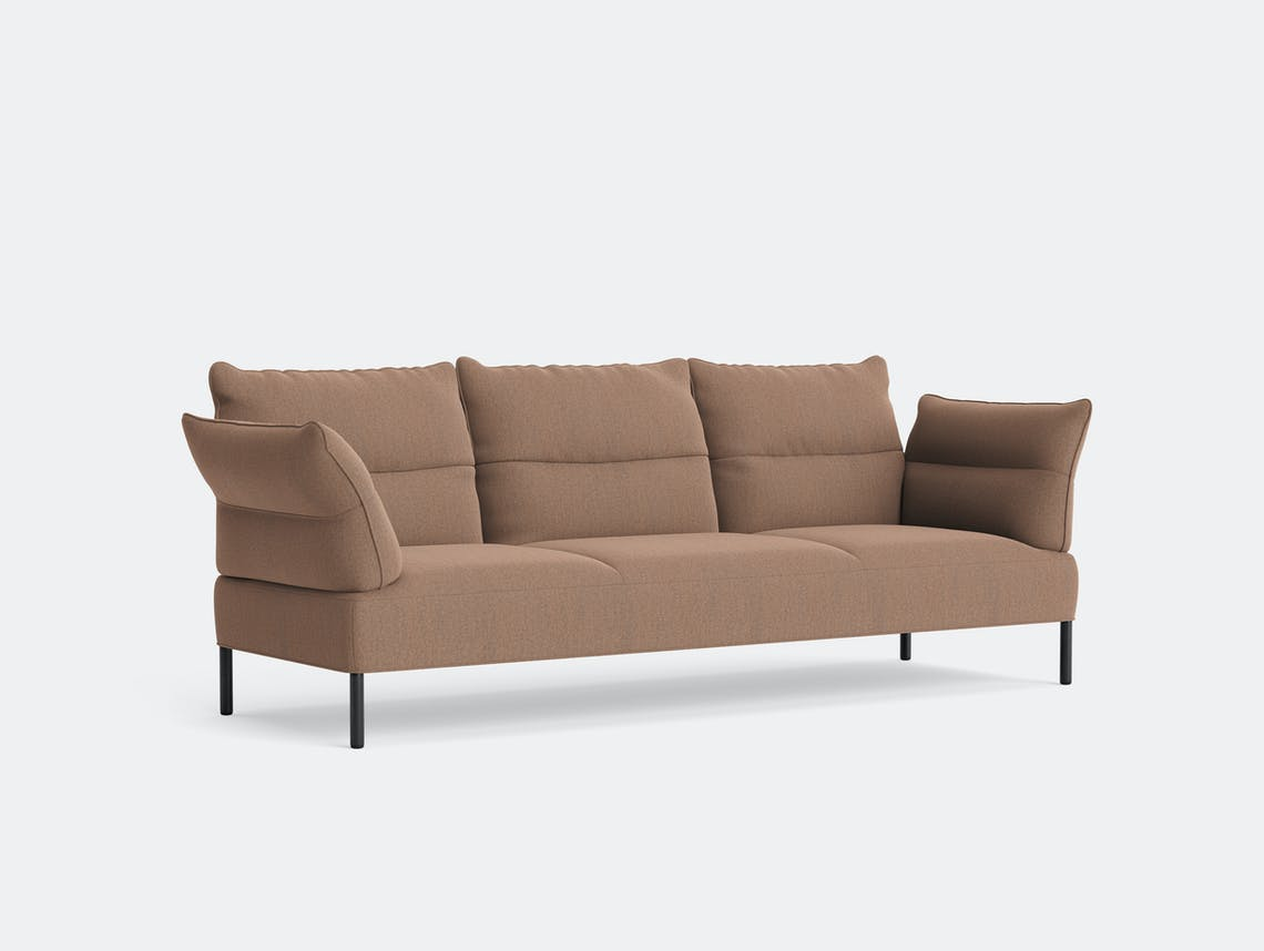 HAY pandarine three seater sofa reclining rewool 568 black stained oak