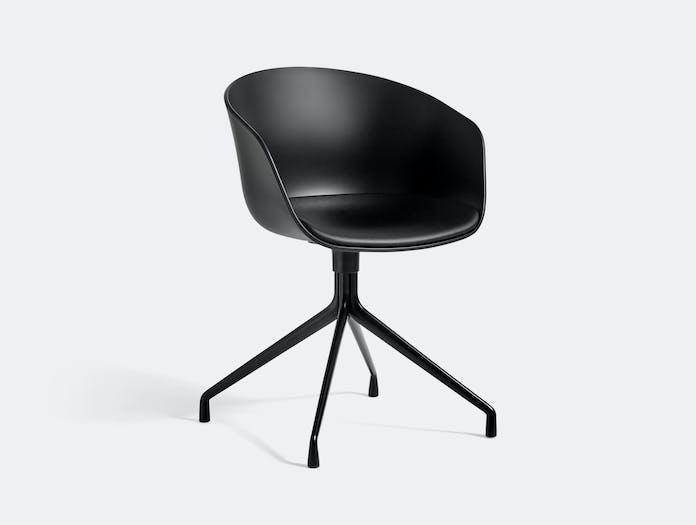 Hay Aac20 Black Base Black Seat Leather Sierra Black Hee Welling